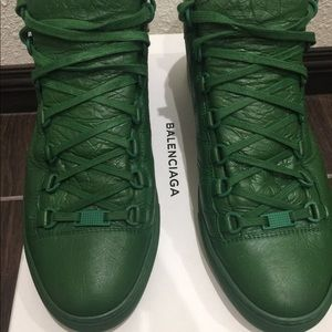 Balenciaga Arenas high top (Green) Size 42